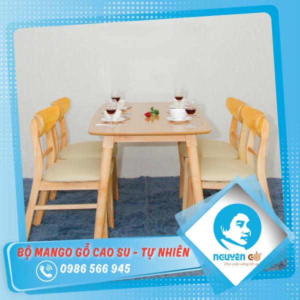 Bộ mango gỗ 4 ghế